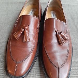 SANDRO MOSCOLONI MENS BROWN LOAFERS SIZE 10D